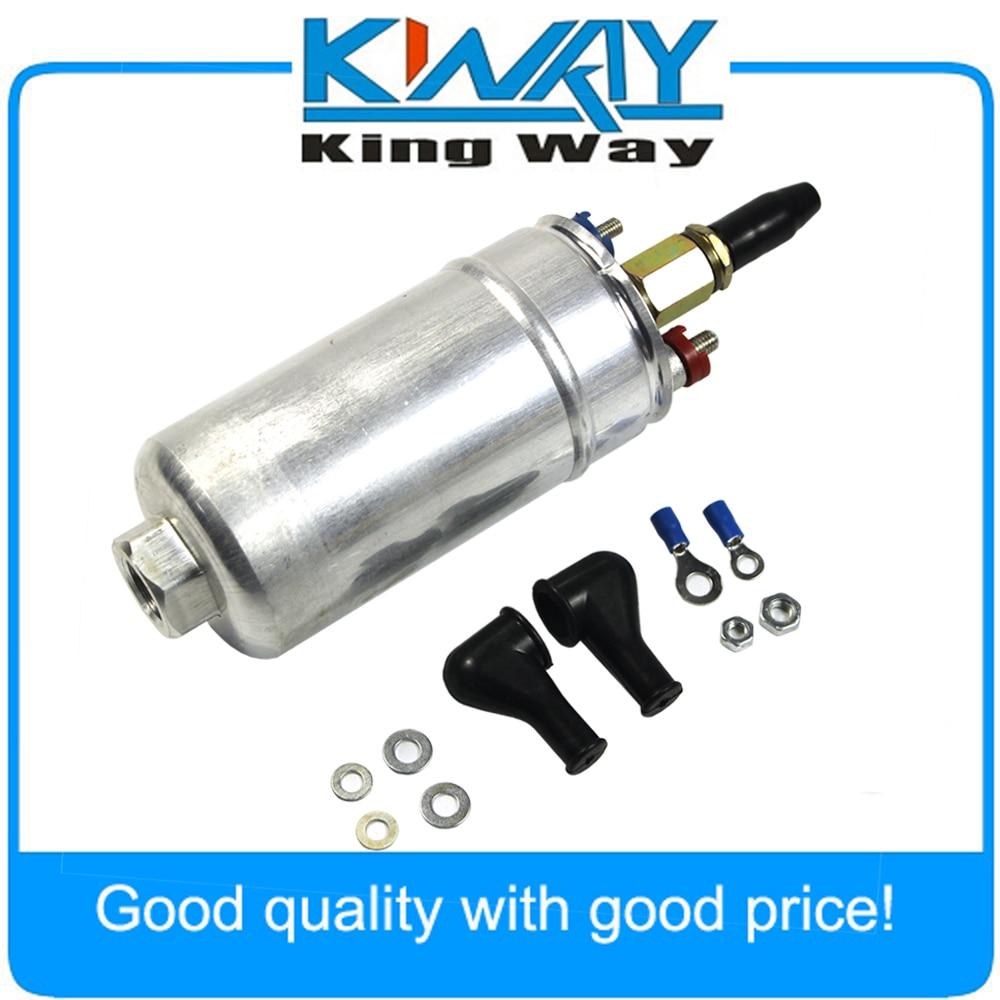 New 300LPH Universal External Inline Fuel Pump With Installation Kit 0580254044