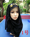 Fashion muslim hijab arabic style shimmer plain new style rhinestone arab bridal hijab