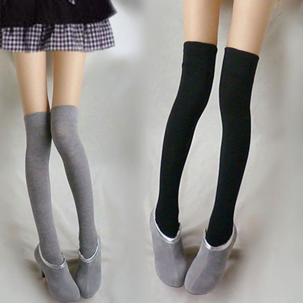 ffabd83139e Aliexpress.com   Buy Girls Over Knee Socks Thigh High Thick Stripe Stocking  High Quality Hot Sale from Reliable Stockings suppliers on Beautiful Trend  ...
