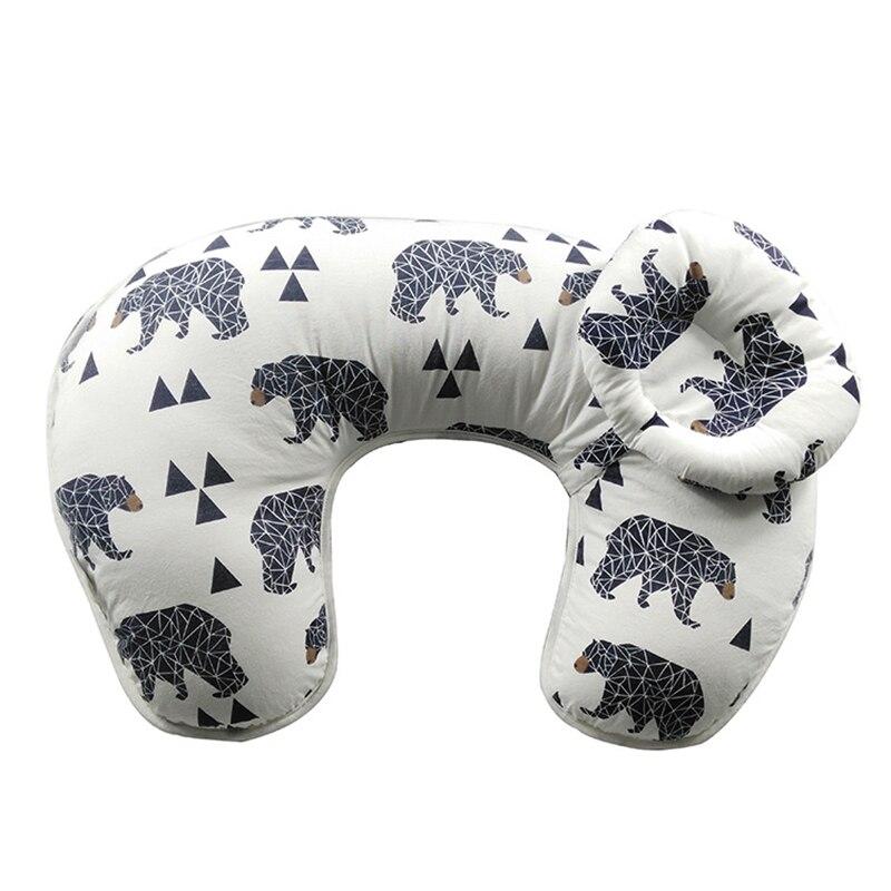 Подушка для кормления грудью, многофункциональная Подушка для беременных и кормящих мам, мягкая удобная поддержка для новорожденных, хлопок, Новинка - Цвет: 4
