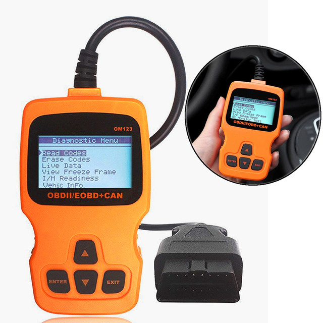 Cheap ODB2 Automotive Scanner OBDII / EOBD + Can OM123 Auto Diagnostic Tool Fixd Read Engine Faults Scan Tool for Car Elm327