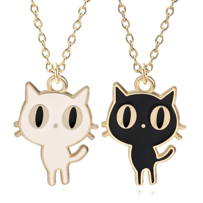12 шт./лот Мультфильм стильный Luna кошка сплава Цепочки и ожерелья висит аксессуары фес ...