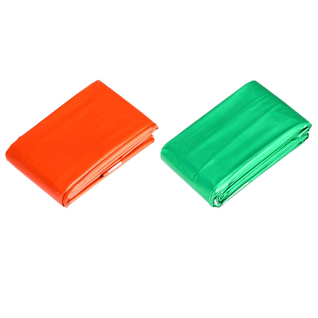 New Reusable Emergency Blanket First Aid Survival Rescue Curtain Outdoor Life-saving Blanket Sleeping Bag Green 210*130 CM