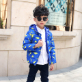 2017 winter coats children's clothing baby down clothes short hooded outerwear for unisex kids cartoon down & parkas
