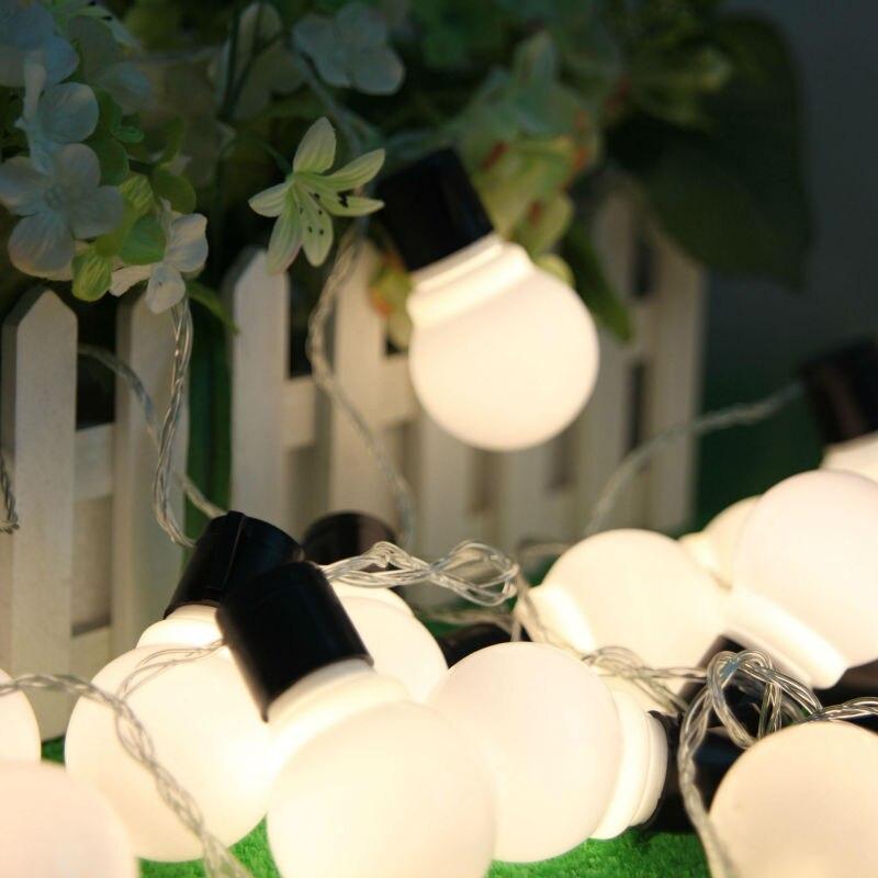 Imperméable 5 m LED 4 cm boule guirlande cordes blanc noël lumières vente année vacances fête mariage luminaria décoration lampes