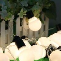 Không thấm nước 5 M LED 4 cm bóng vòng hoa Strings đèn Giáng sinh trắng bán năm ngày lễ Đảng Wedding Luminaria trang trí đèn