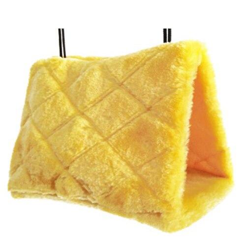 МЭОФ Универсальный попугай гамак пушистый пещера желтый, S