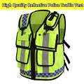 Men's reflective police vest safety workwear hi vis vest free shipping
