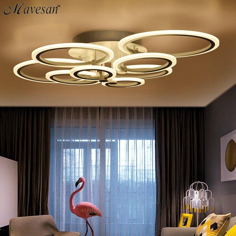 Современные светодиодные светильники потолочные для спальни гостиной lamparas де techo затемнения светодиодные светильники потолочные лампы дл...