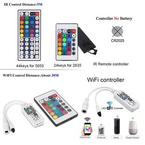Image 3 - Wifi Dải Đèn LED 10M 5M SMD RGB 2835 5050 Diode LED Băng Nơ Đèn LED Chống Nước Băng Và bộ Điều Khiển Từ Xa Với Bộ Adapter