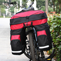 ROSWHEEL Bicycle Basket 60L Cycling Bicycle Bag Bike Double Side Rear Rack Tail Seat Trunk Bag Pannier with Rain Cover