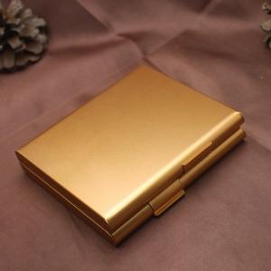 Image 4 - Двойной алюминиевый чехол для сигарет, футляр для сигар, металлический Карманный контейнер для хранения, аксессуары для сигарет