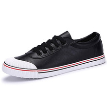 2016 Low Top Men Skateboarding Shoes Spring Summer Breathable Lace-up Man Sneakers Canvas Shoes Wholesale Black White Colors