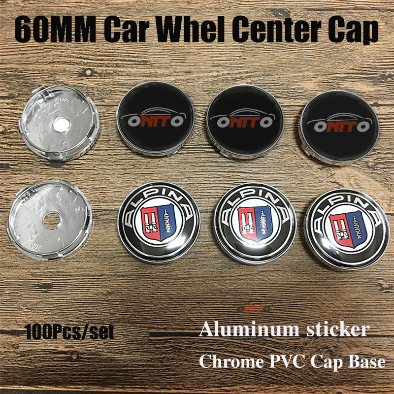 Wholesale Price 100PCS 60MM 2.36INCH Car Styling Wheel Center Cap Covers FOR E60 E90 F10 F30 F15 E63 E64 E65 E86 E89 E85 E91