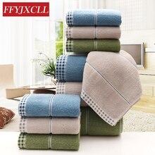 3 Piece Towel Set Absorbent Soft 1 70*140cm Adults 100% Cotton Bathroom Beach 2 35*75cm Face Washcloth