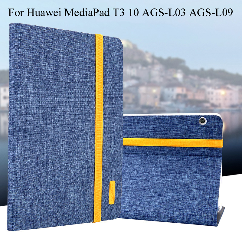 Case For Huawei MediaPad T3 10 AGS-L03 AGS-L09 9.6 inch Tablet Smart Cover Tablet Silicon+Cloth PU Leather Sleep Wake Shell+Gift yamaha silicon cloth m