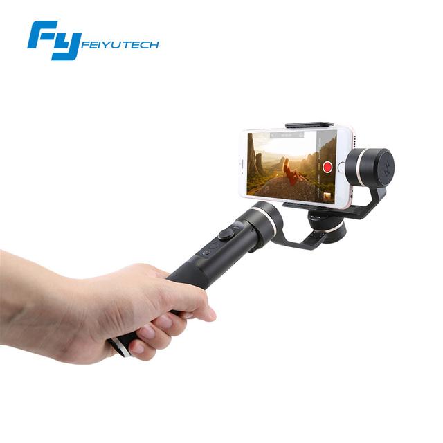 Feiyutech fy-spg 3 eixos cardan handheld estabilizador para iphone smartphone e outra ação da câmera gopro brushless cardan