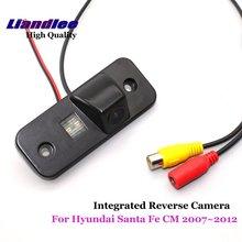 Liandlee для hyundai Santa Fe см 2007 ~ 2012 заднего вида автомобиля Камера резервную Парковка Вид сзади Камера/Integrated SONY CCD HD