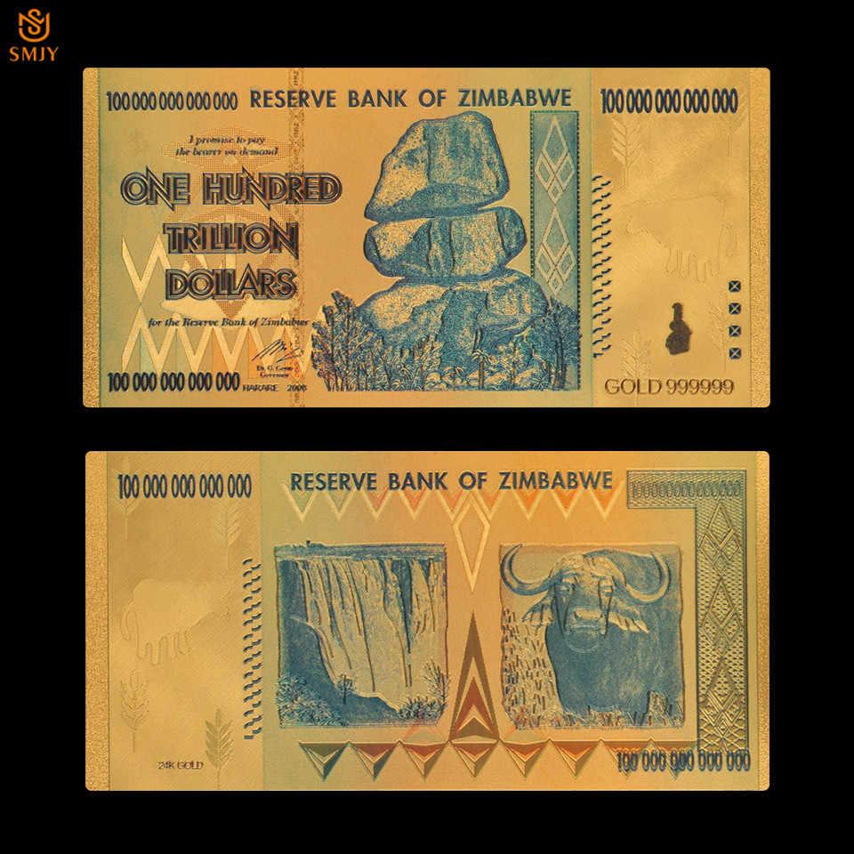 Zimbabwe 100 Trillion Gold Plated