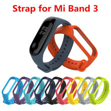 2018 Newest LYKL Sport silicone Wrist Strap for Xiaomi MIBand 3 Strap Bracelet Replacement Wristband Band for MI band 3 Straps(China)