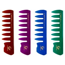 Get more info on the Handle High quality Wide Tooth Plastic Beard Hair Comb oil head comb Detangling Curly for man