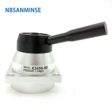 NBSANMINSE K34R6 G1/4 Hand Switching Valve Drawing Mechanical Pneumatic Manual  G 1/4 Thread
