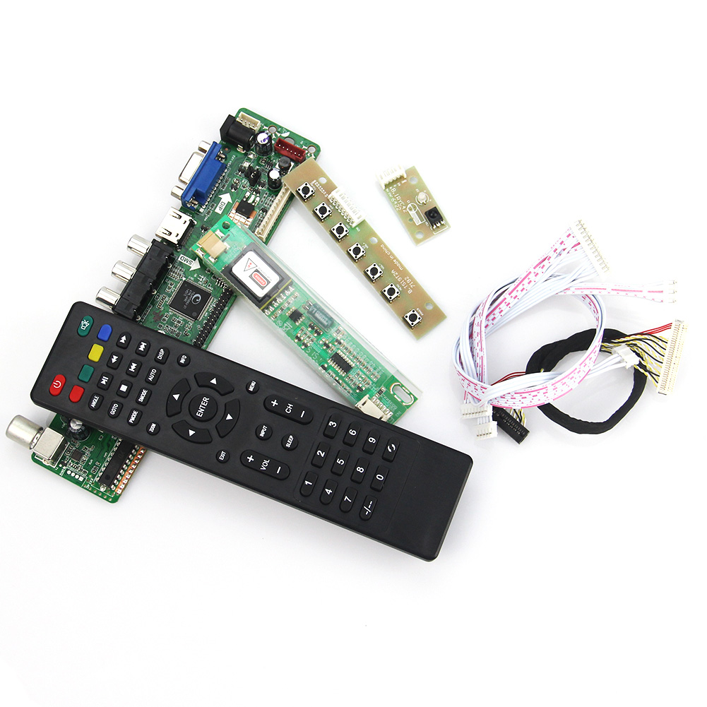 T.VST59.03 LCD/LED Controller Driver Board For LTN154XA-L01 CLAA154WB05AN  (TV+HDMI+VGA+CVBS+USB) LVDS Laptop 1280x800 Russian