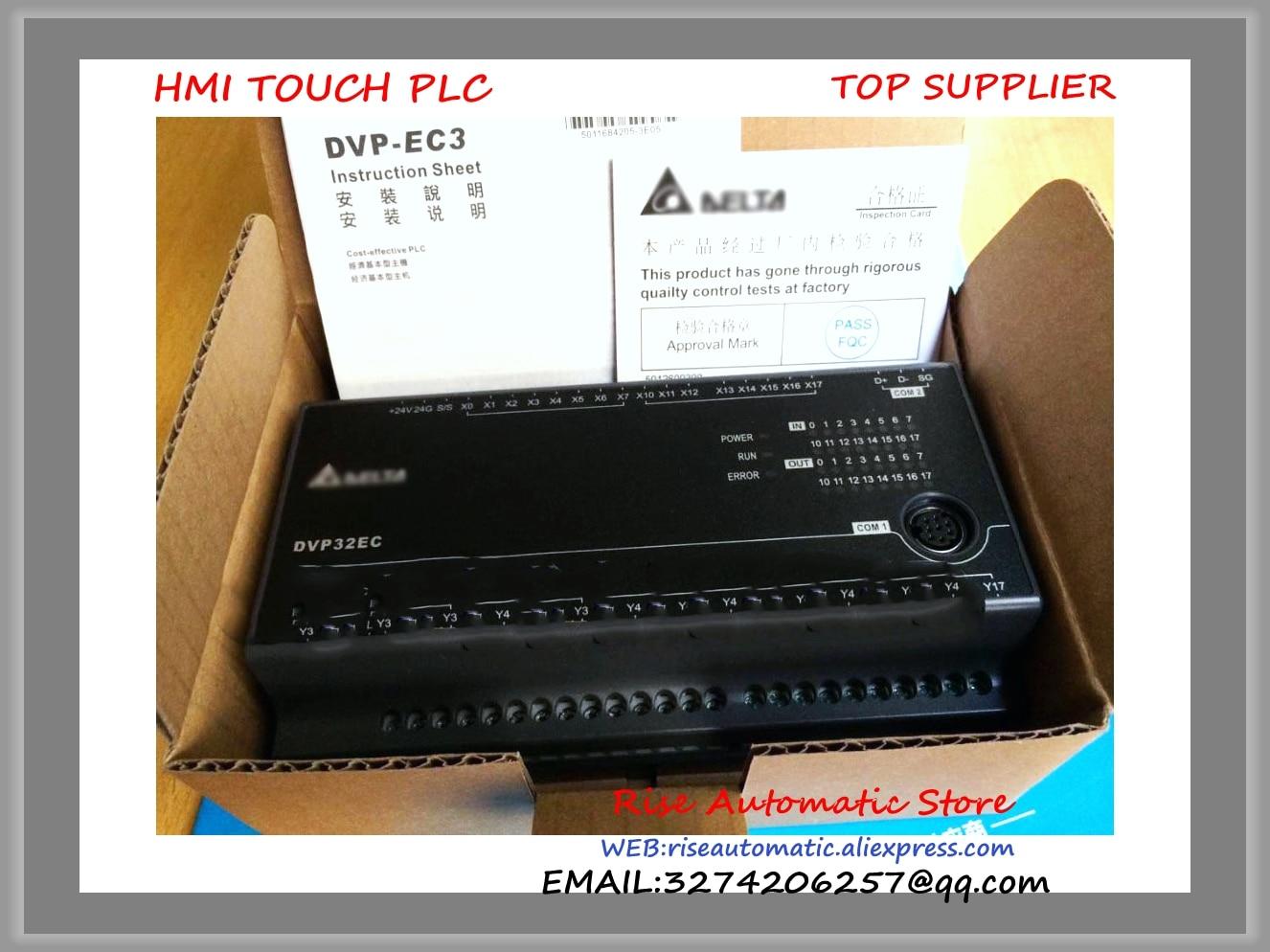 DVP32EC00T3 New Original Delta PLC EC3 series 100-240VAC 16DI 16DO Transistor output dvp32es00t2 delta plc 100 240vac 16di 16do transistor output new original