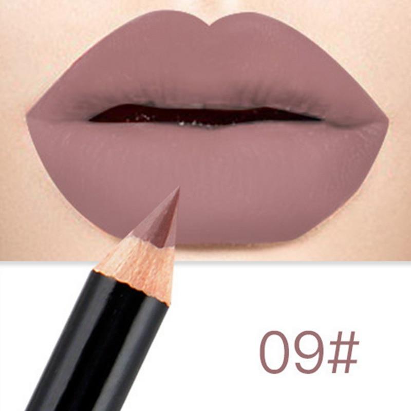 Brand Waterproof Matte Lipstick Pencil Lip Liner Makeup Contour Lip Tint Sexy Batom Mate Long Lasting Moisturizer Lipliner Levre