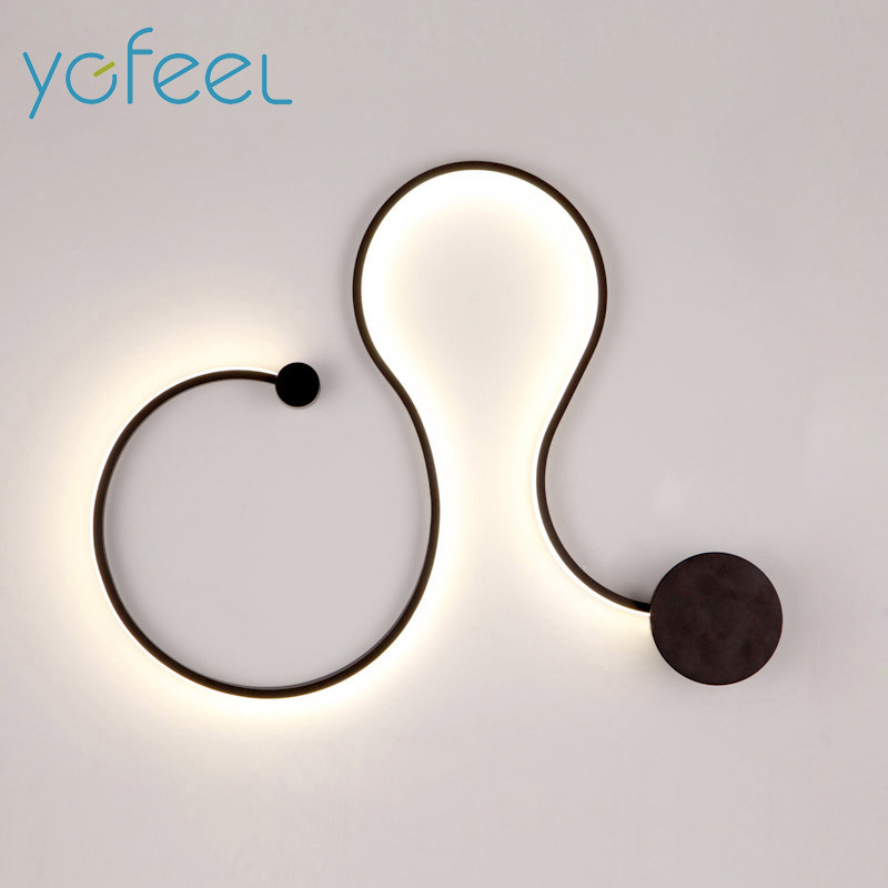 [YGFEEL] Modern LED Wall Light Creative Living Room Decoration Wall Sconce Bedroom Beside Lamp Study Reading Lighting Wall Lamp modern creative led wall lights for bedroom study room stainless steel hardware 6w home decoration wall lamp free shipping