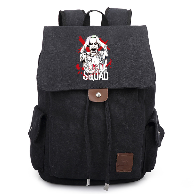 Suicide Squad Harley Quinn Printed Bag Backpack Travel Canvas Book School Men Women Boy Girls Bag Gift casio aeq 100w 2a