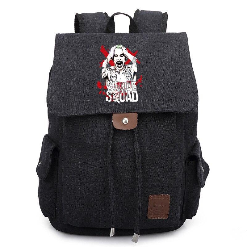 Suicide Squad Harley Quinn Printed Bag Backpack Travel Canvas Book School Men Women Boy Girls Bag Gift