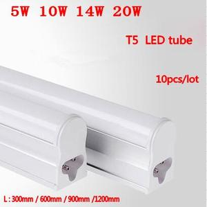 Image 1 - LED Bar Lights T5 LED Tube 1FT 2FT 5W10W14W20W AC220V Integrated Fluorescent Tube Wall Lamps Home Decoration 2835SMD LED Light