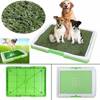 Indoor Puppy Dog Pet Grass Toilet Tray 3 Tire Training Potty Pee Pad Mat Tray Fake Grass Toilet With Tray Pet Supplies