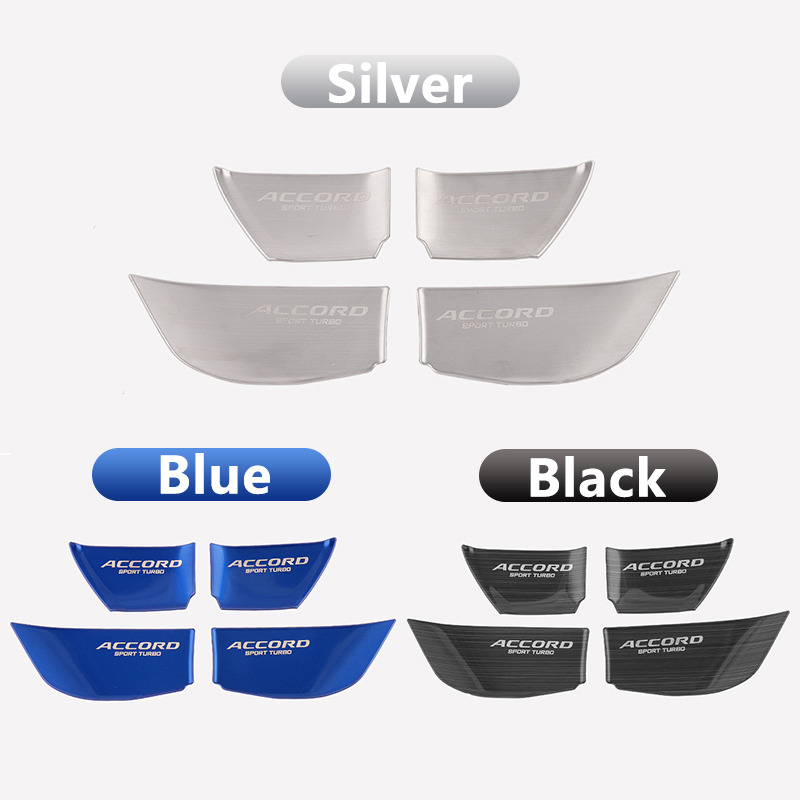 Image 4 - Stainless Steel Car styling interior Door wrist Bowl Cup Trim Sticker Covers For Honda Accord 10th 2018 Accessories-in Interior Mouldings from Automobiles & Motorcycles