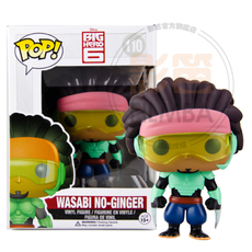 NEW Genuine FUNKO POP 10cm <font><b>Big</b></font> <font><b>Hero</b></font> <font><b>6</b></font> <font><b>wasabi</b></font> No-ginger <font><b>action</b></font> <font><b>figure</b></font> Bobble Head Q Edition new box for Car Decoration
