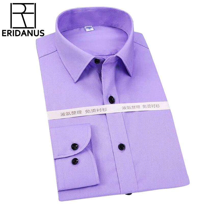 Homens sólidos Camisas de Trabalho de Escritório de Negócios Vestido de  Manga Comprida Moda Casual Camisa Roupas de Marca Plus Size 4XL Sociais X152 13c5617ab2213