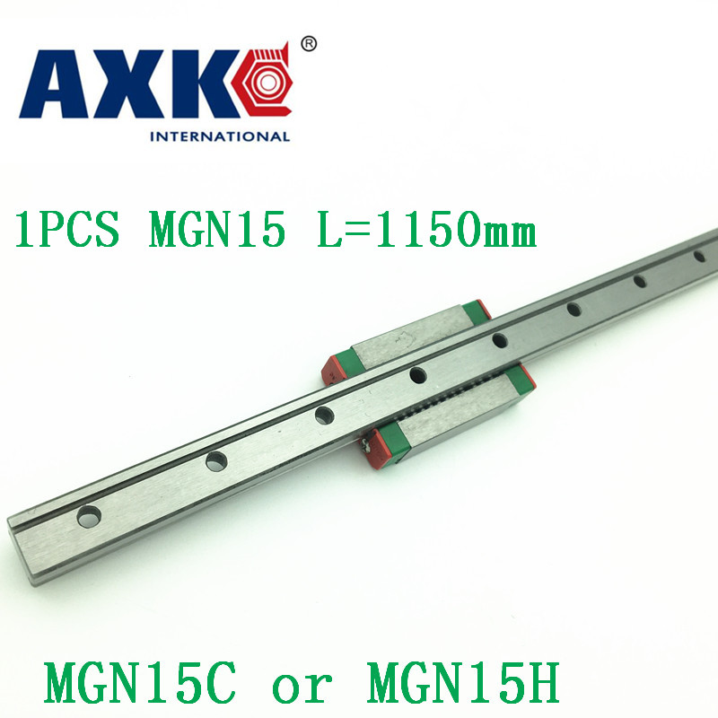 15mm Linear Guide Mgn15 L=1150mm Linear Rail Way + Mgn15c Or Mgn15h Long Linear Carriage For Cnc X Y Z Axis free shipping 15mm linear guide mgn15 700mm linear rail way mgn15h long linear carriage for cnc x y z axis