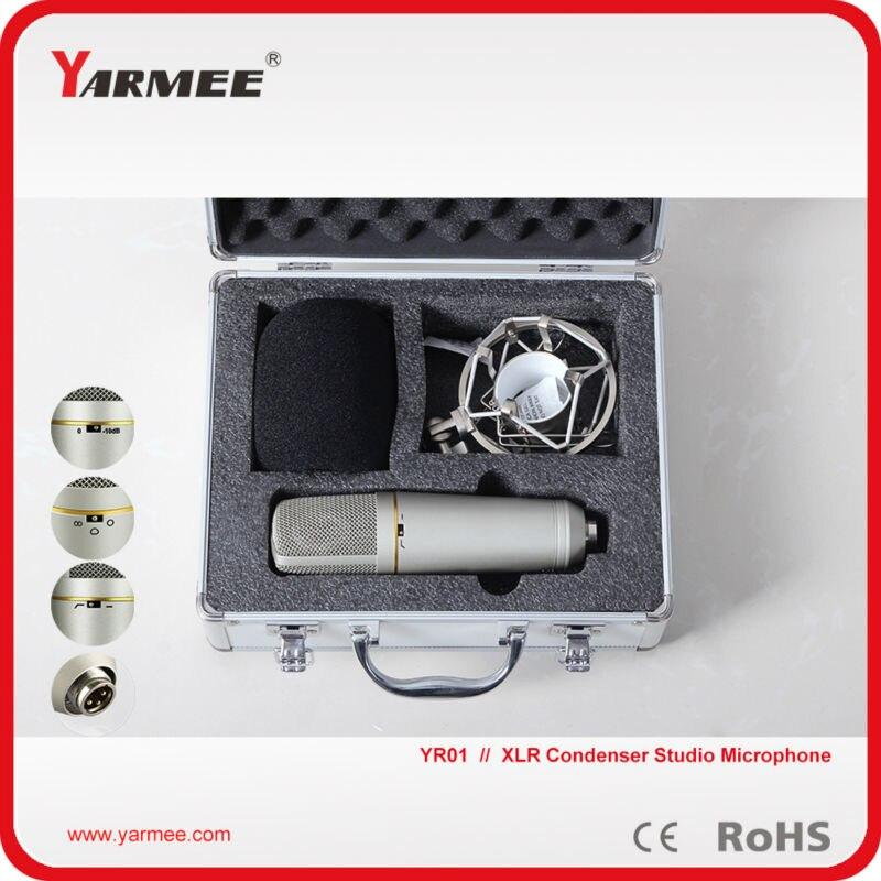 High SPL recording broadcasting XLR professional recording microphone Karaoke microphone YR01 best quality yarmee multi functional condenser studio recording microphone xlr mic yr01