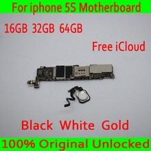 16 Гб/32 ГБ/64 ГБ для iphone 5S материнская плата с бесплатным iCloud, оригинальный разблокирован для iphone 5S материнская плата с сенсорным ID, хорошее тестирование