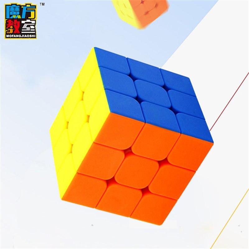 MoYu mofangjiaoshi MF3S magia adesivo cubo menos velocidade cubos Fosco superfície puzzle cubos de brinquedo educativo para crianças