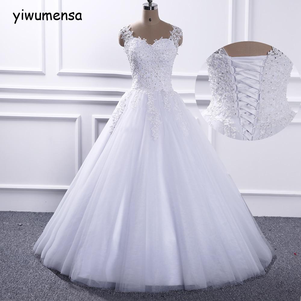 Yiwumensa Elegant Sweetheart Wedding Dress 2018 Crystals Beading Bridal Dresses Vestido De Novia Wedding Gowns Robe Mariage