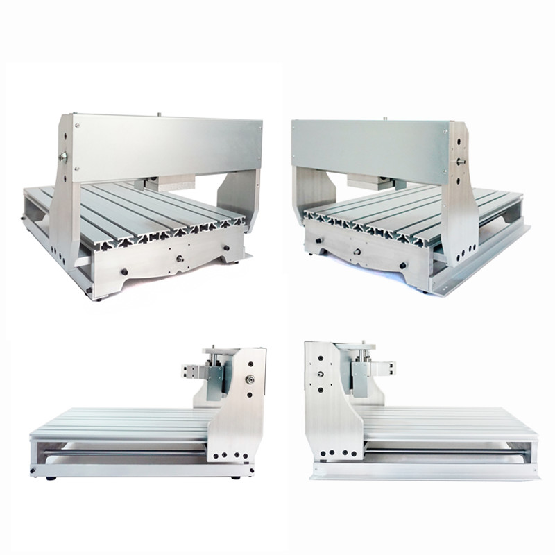 fixture 65mm CNC milling Machine Frame DIY CNC 4060 Suitable CNC wood router 6040 2.2KW 1500W water cooled Spindle cnc router wood milling machine cnc 3040z vfd800w 3axis usb for wood working with ball screw