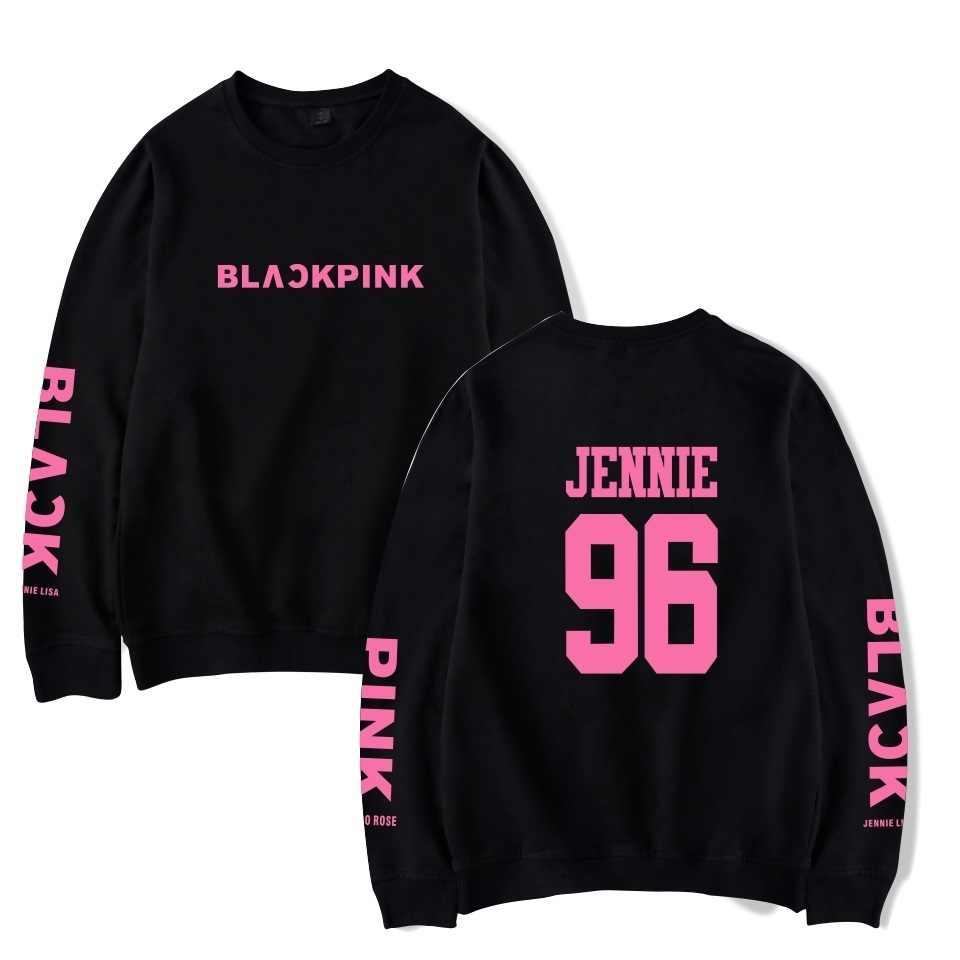 WEJNXIN Kpop Blackpink Album Rose LISA JENNIE JISOO Hoodies Women/Men Fans Support Capless Sweatshirt Pullover Tracksuit