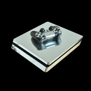 Image 2 - Autocollant de peau mince or argent bleu rouge PS4 pour Console PlayStation 4 et 2 contrôleurs PS4 autocollant de peaux minces vinyle