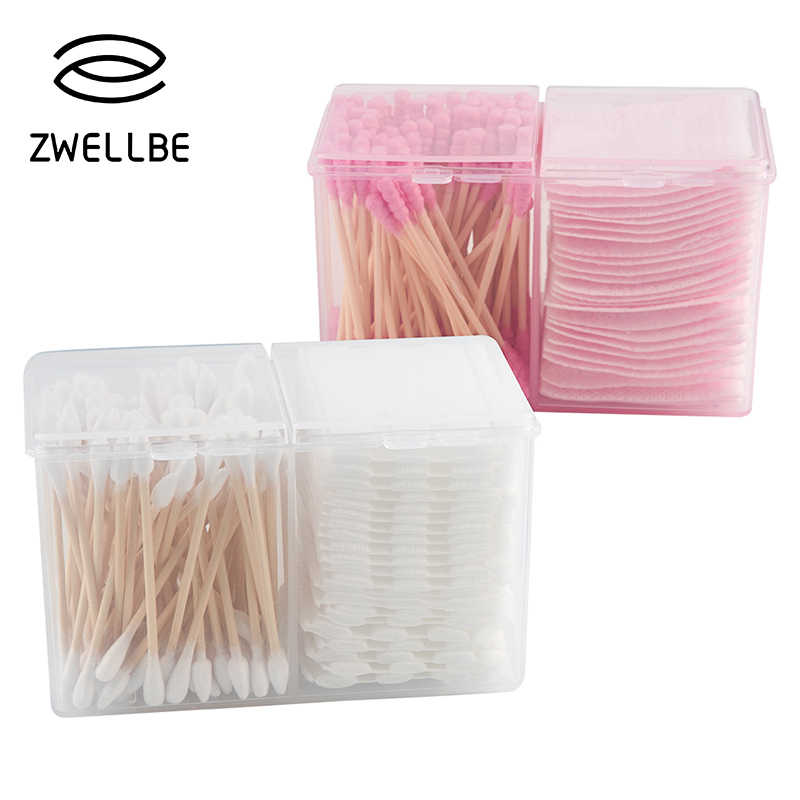Transparent Acrylic Cosmetic Box Makeup Organizer Storage Box Plastic Container Cotton Swabs Cotton Pad Holder