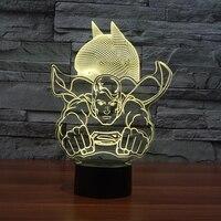 3D Dest Lamp Super Hero Batman 7 Color Change LED Table Night Light