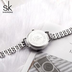 Image 5 - Shengke New Jewelry Womens Quartz Watch Women Watch Luxury Fashion Ladies Black Japan Mov Rosegold Relogio Feminino new SK 2019