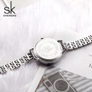 Image 5 - Shengke reloj de cuarzo para mujer, joyería, moda de lujo, japonesas negras, Mov, Rosegold, SK 2019