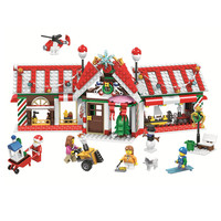 Christmas House Advent Calendar Santa Claus Snow Truck Figures Building Blocks Model Toys Kids Compatible legoingly Best Gifts